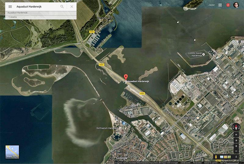 El acueducto en Google Maps