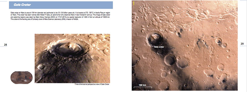 Gale Crater en el Mars Atlas