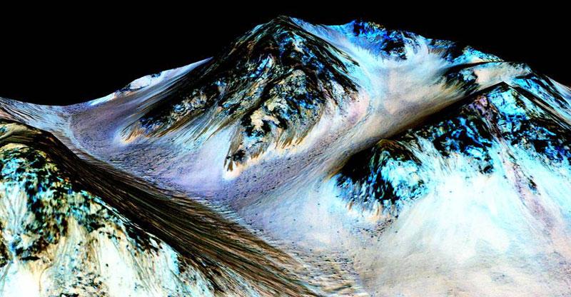 Líneas de ladera recurrentes en Marte
