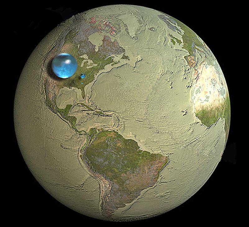 Toda el agua de la Tierra - USGS