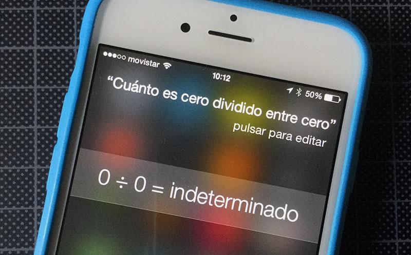 Siri: Cero entre cero