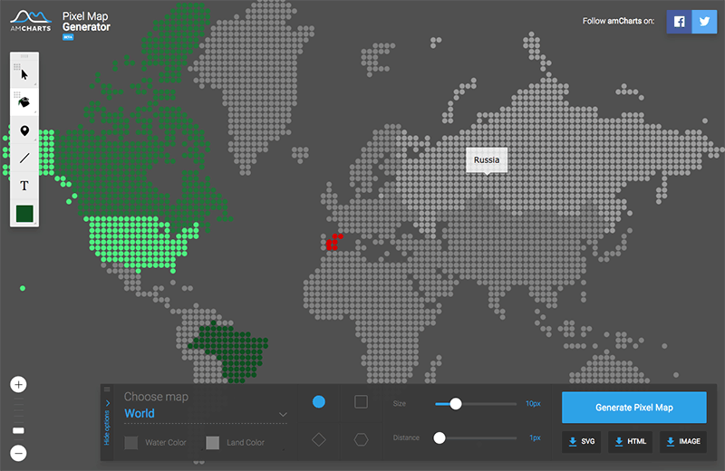Pixel Map Generator / amCharts