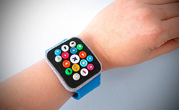 Apple Watch de fieltro