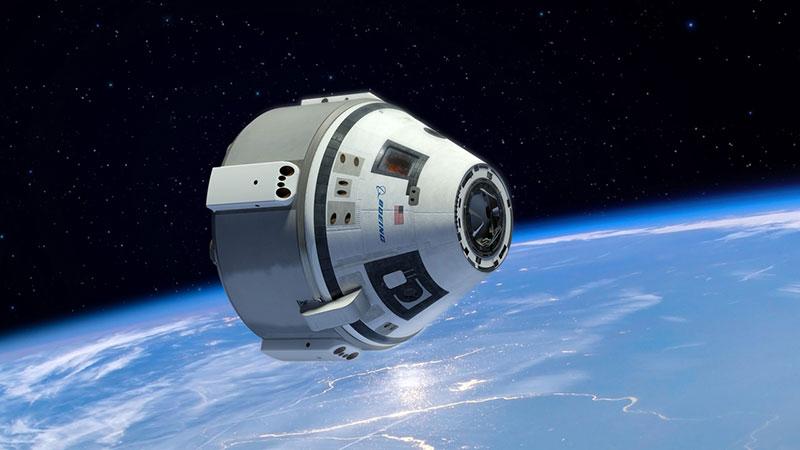 Impresión artística de la CST-100 en órbita