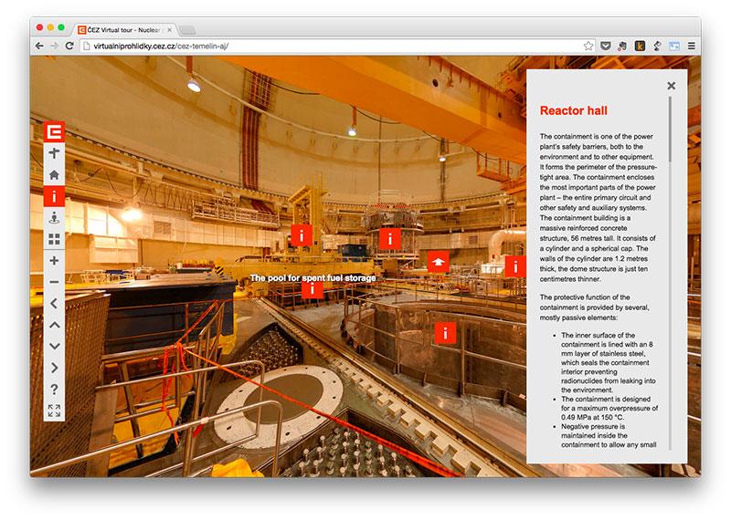 Sala de uno de los reactores de la central de Temelín
