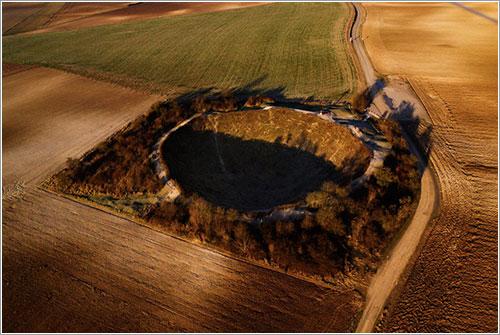 Crater de la mina en Lochnagar