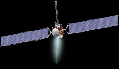 Representación artíctica de la sonda Dawn