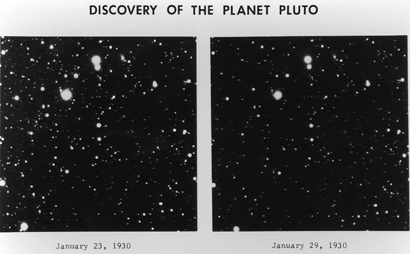 Placas fotográficas en la que se descubrió Plutón