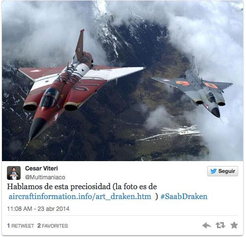 Dos Draken en un tuit