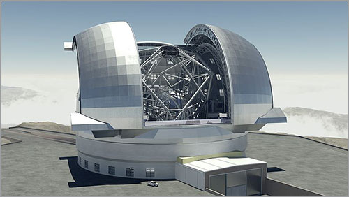 Imagen de síntesis del E-ELT - Swinburne Astronomy Productions/ESO