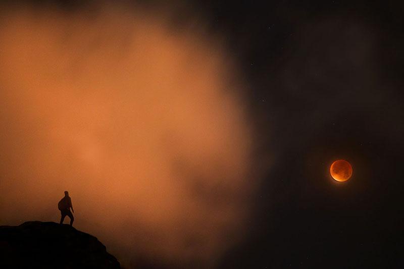 El eclipse visto por Arnar Kristjansson