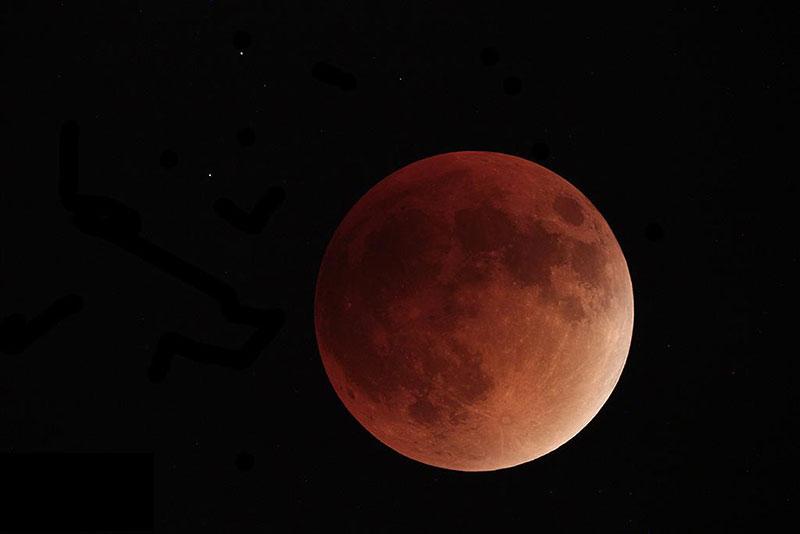 Eclipse de superluna de septiembre de 2015 por Paco Bellido