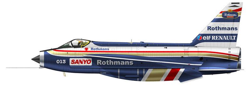 Lightning con librea Williams/Rothmans