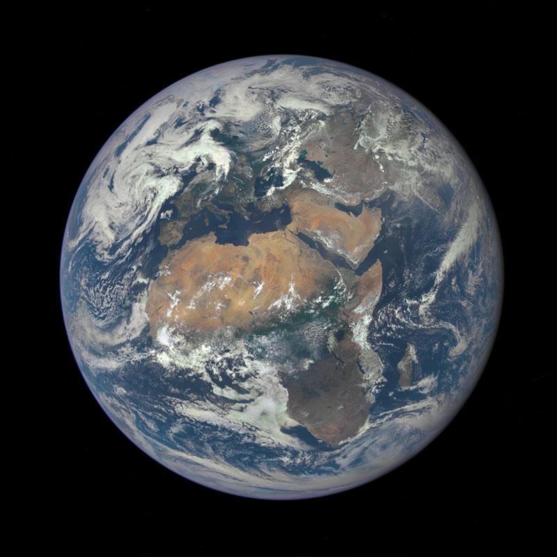 África y Europa vistas por EPIC