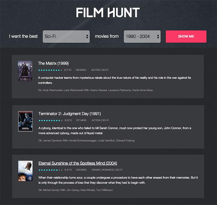 Film Hunt: lo mejor de lo mejor del cine de cada época | Microsiervos (Películas / TV)