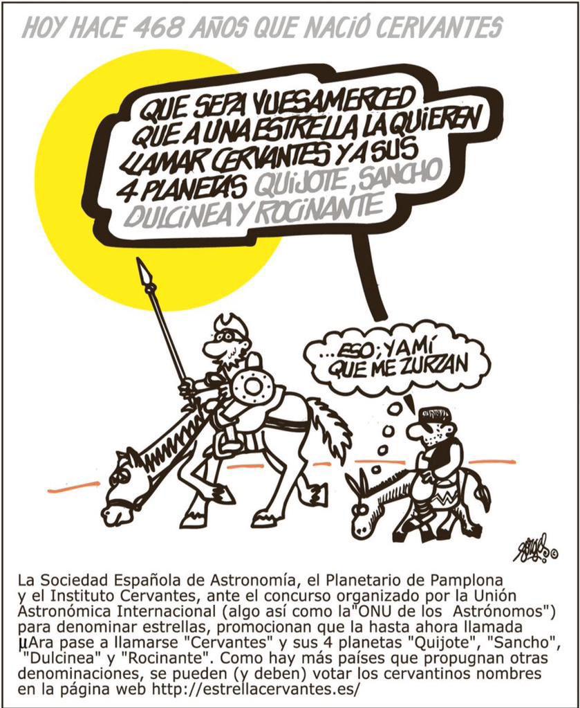 Yo Estrella Cervantes por Forges