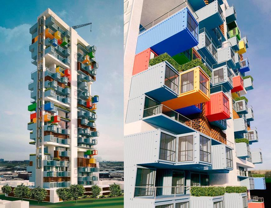 Gantit Container Skyscraper