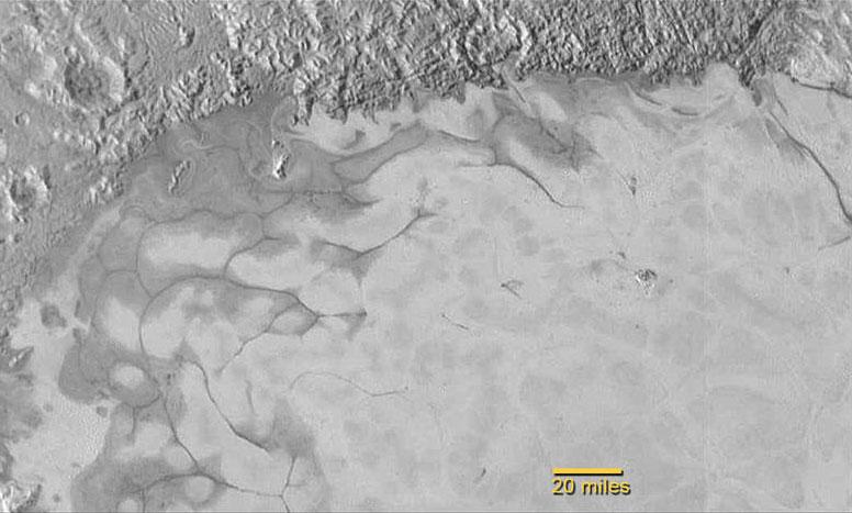 Glaciares en Plutón