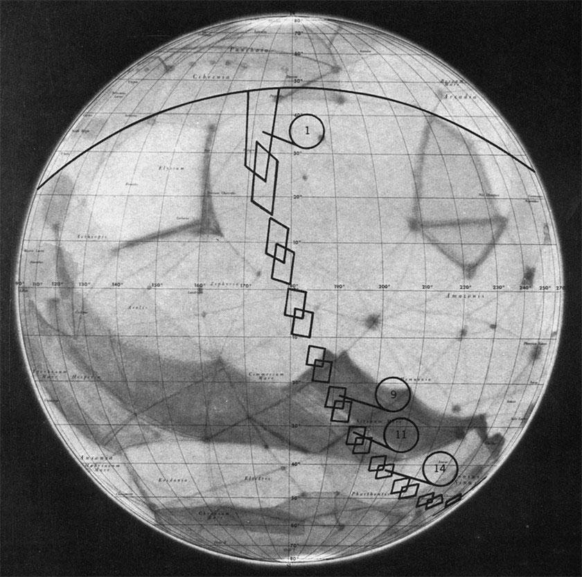 Mapa de Marte de la Mariner 4