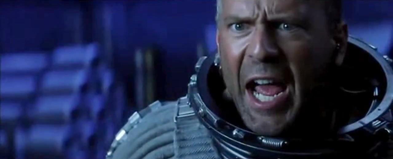 Harry Stamper (Bruce Willis) en Armageddon