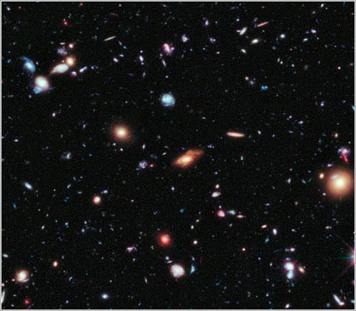 Recorte del Hubbe XDF - NASA/ESA