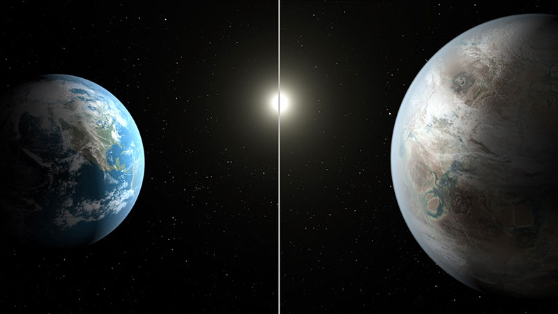 Kepler-452b y la Tierra