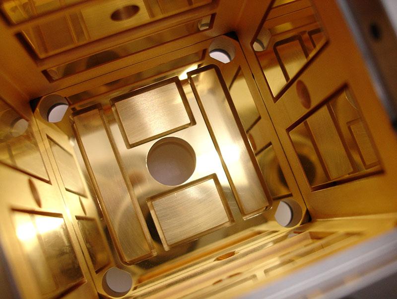 Caja de uno de los sensores de LISA Pathfinder