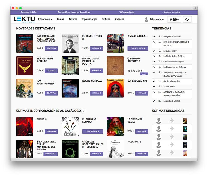 Lektu, una plataforma de libros electrónicos como debe ser