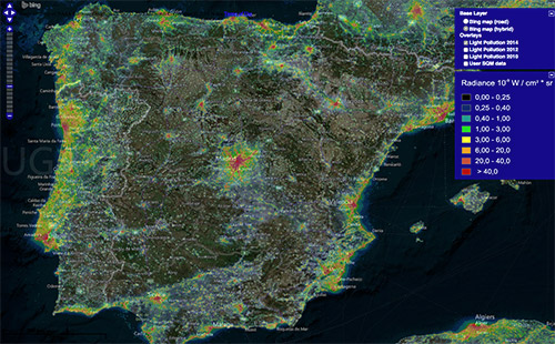 Light Pollution Map Info