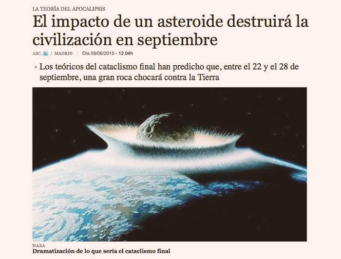 Aprovecha: entre hoy y el lunes llega el FindelMundo (según «teóricos del cataclismo» y el ABC)