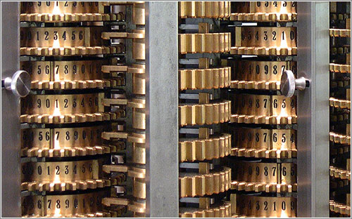 London Science Museum's replica difference engine, built from Babbage's design (CC) Carsten Ullrich