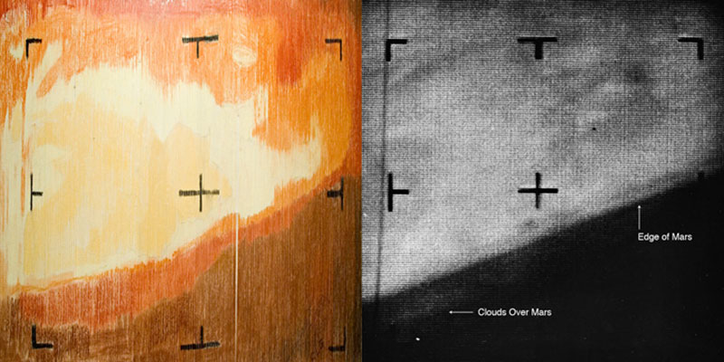 Marte coloreado con ceras