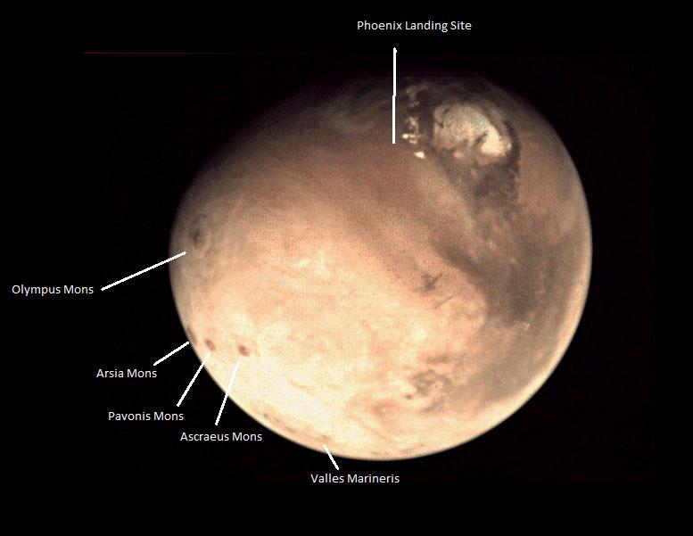 Marte visto por la VMC