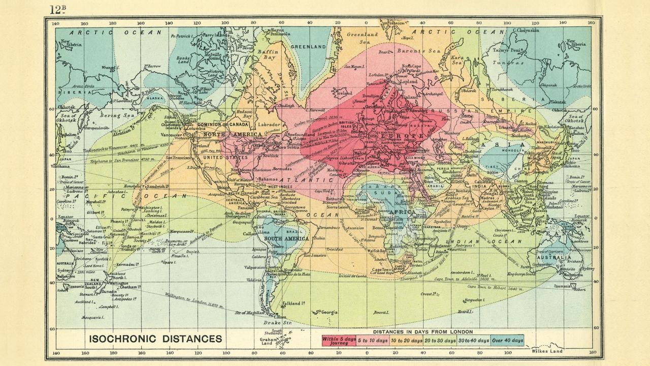 Viaje a cualquier lugar hace un siglo