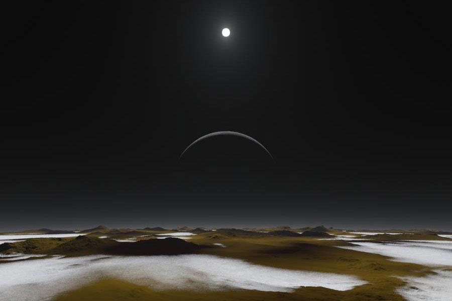 Mediodía en Plutón