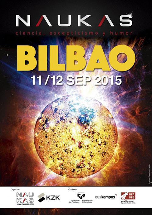 Cartel de Naukas Bilbao 2015 por Alejandro Polanco