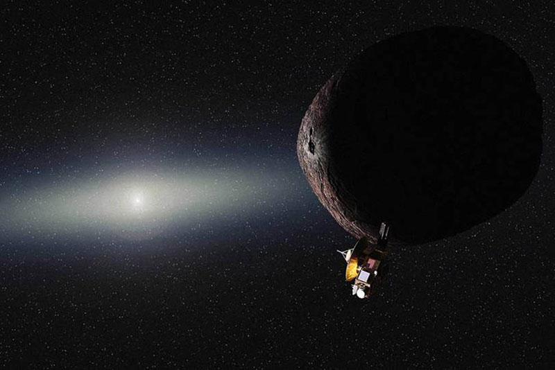 Impresión artística del encuentro de la New Horizons con un KBO