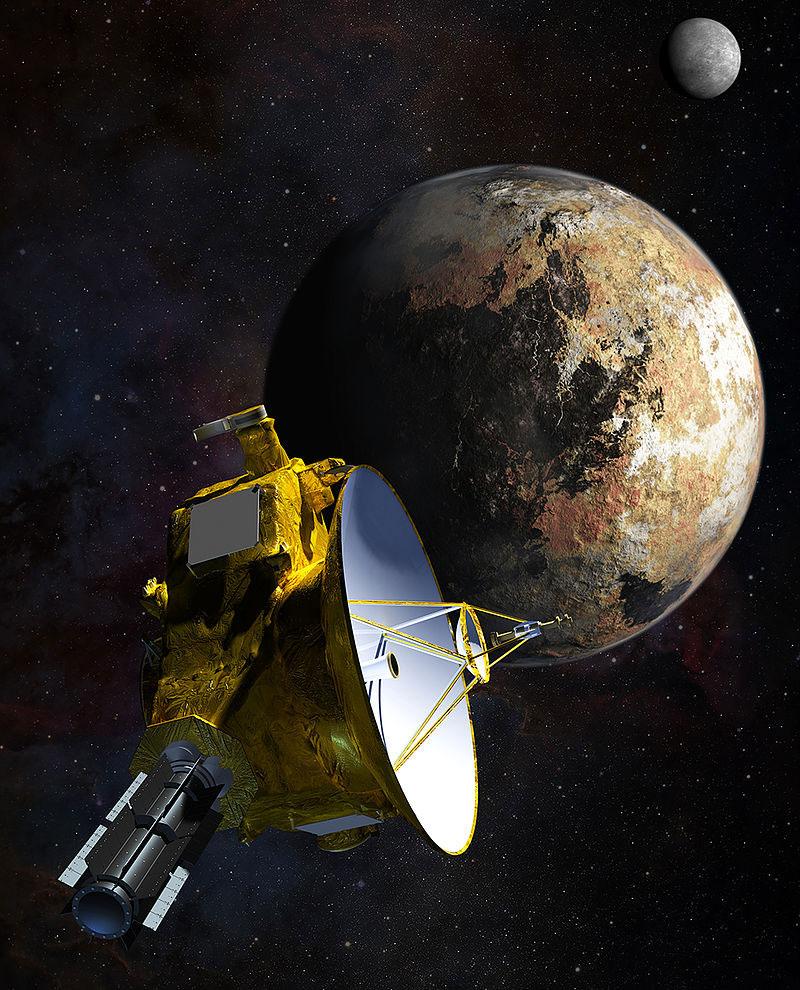 Impresión artística de la New Horizons llegando a Plutón