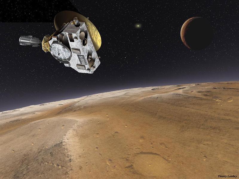 New Horizons, Plutón y Caronte por Thierry Lombry