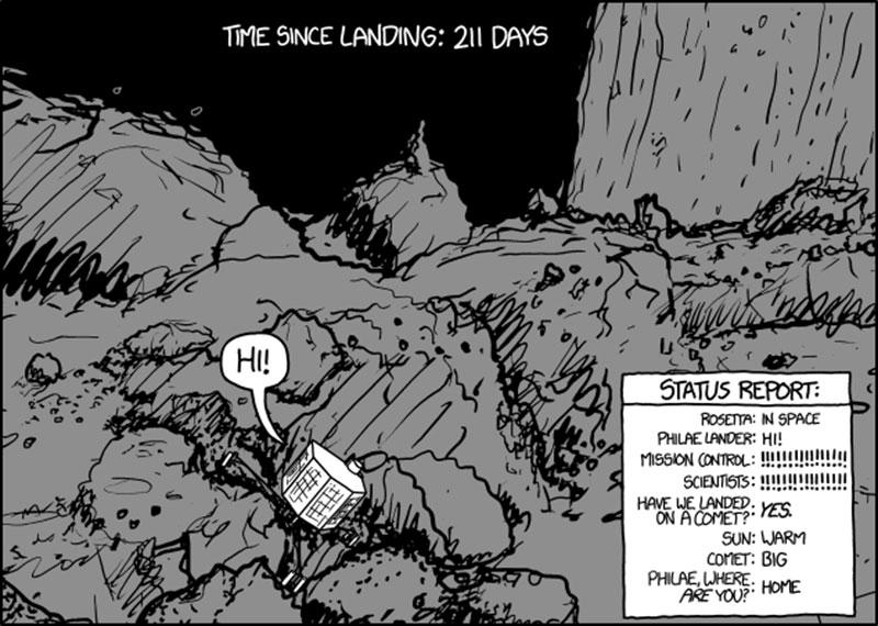 Philae despierta por XKCD