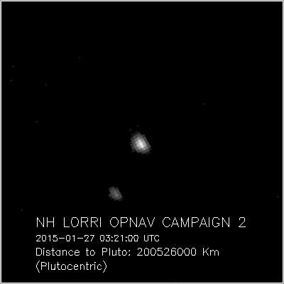 Plutón y Caronte el 27 de enero de 2015