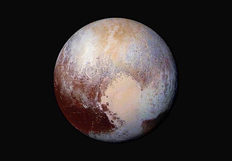 Plutón en falso color