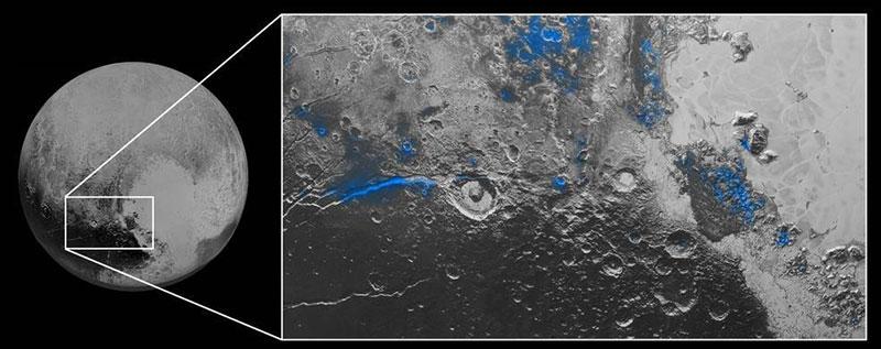 Hielo de agua en Plutón