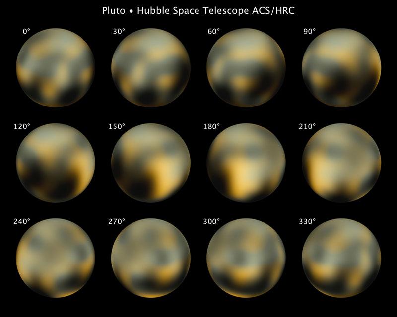 Plutón visto por el Hubble