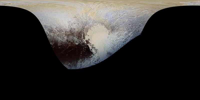 Superficie de Plutón cubierta por la anterior imagen