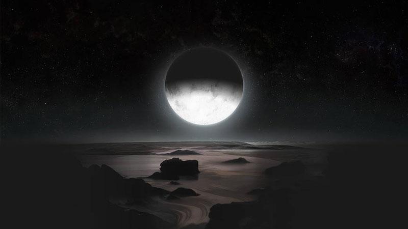El polo sur de Plutón a la luz de Caronte