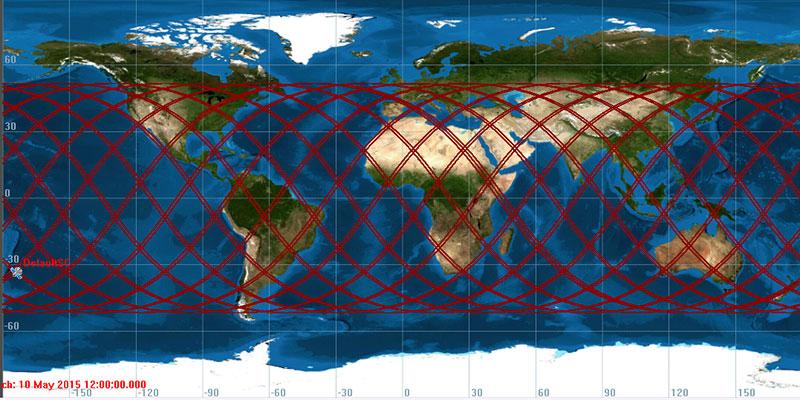 Ground track de la posible reentrada de la Progress M-27M