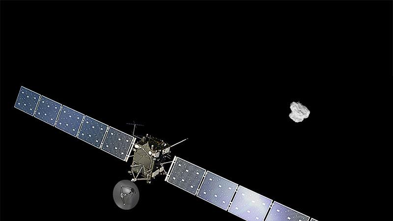 Rosetta en las cercanías de 67P
