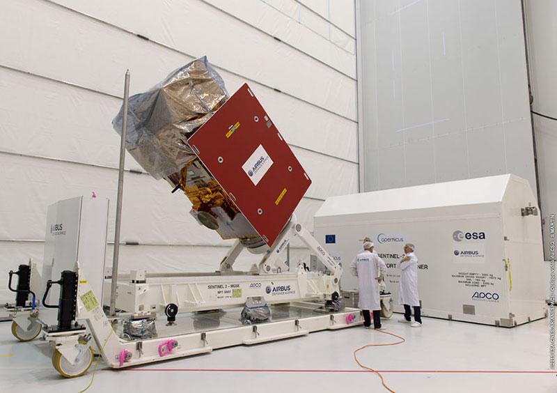 El Sentinel-2A en Kourou