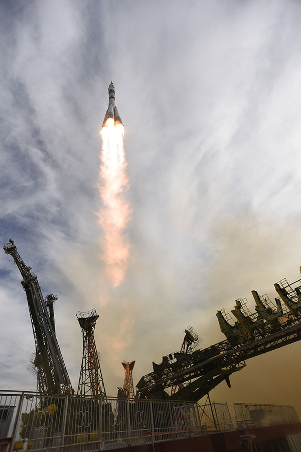 Despegue de la Soyuz TMA-16M